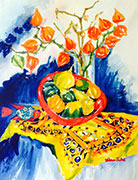 Still Life Studies in Watercolour by Canadian Artist and Teacher, Wilma Pinkus