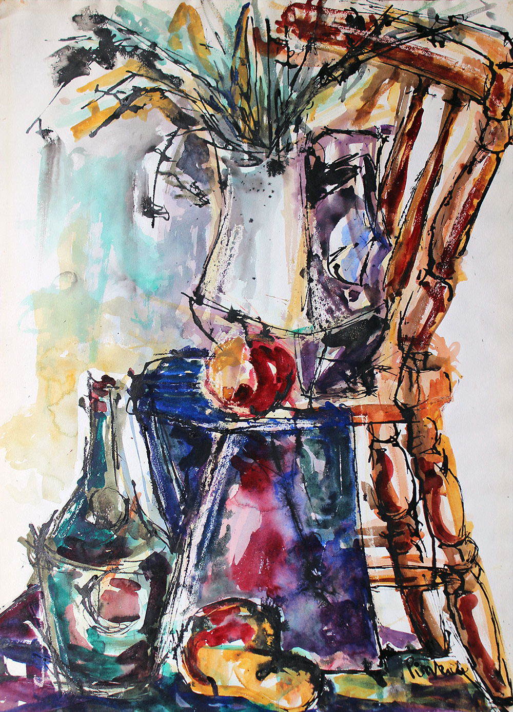 Still Life with Chair.   & Wilma Pinkus | Still Life Studies Colour is Everything